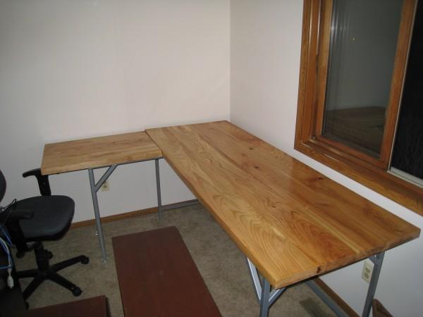 The bare desk assembled