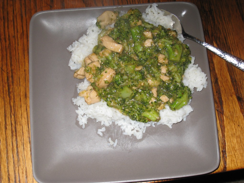 Chicken and Broccoli over White Rice