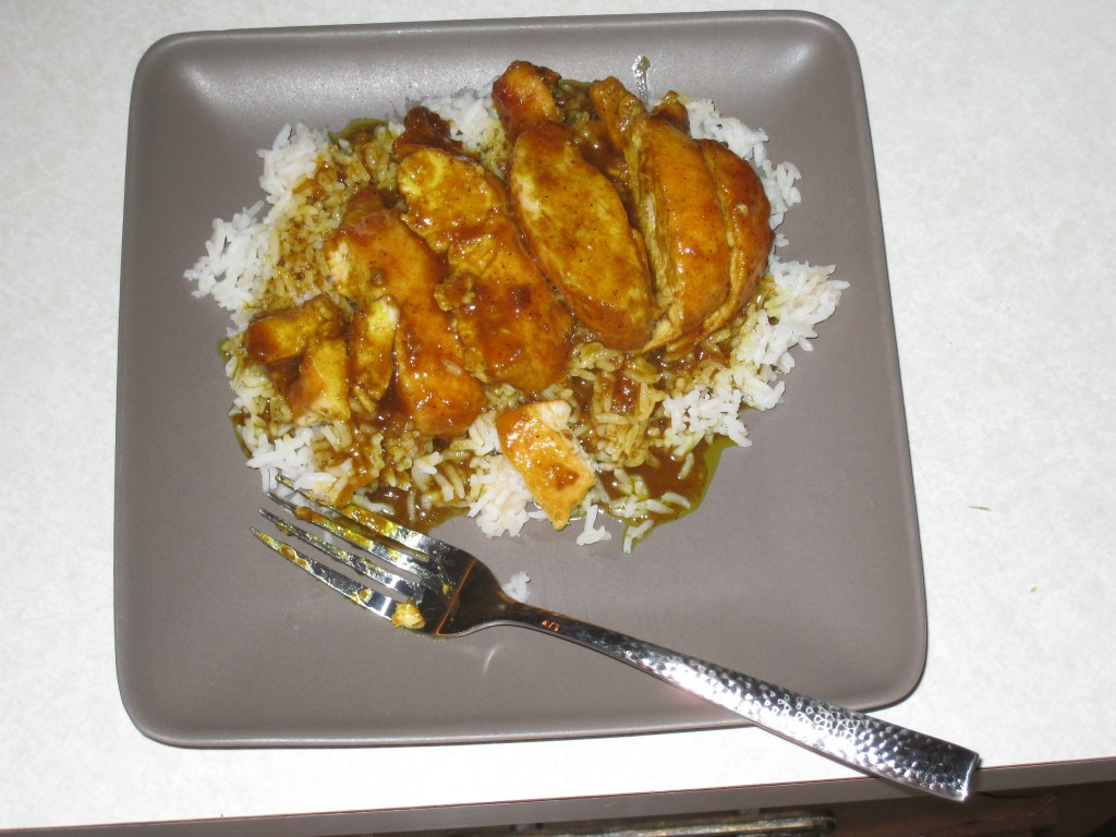 Curry Chicken on Rice