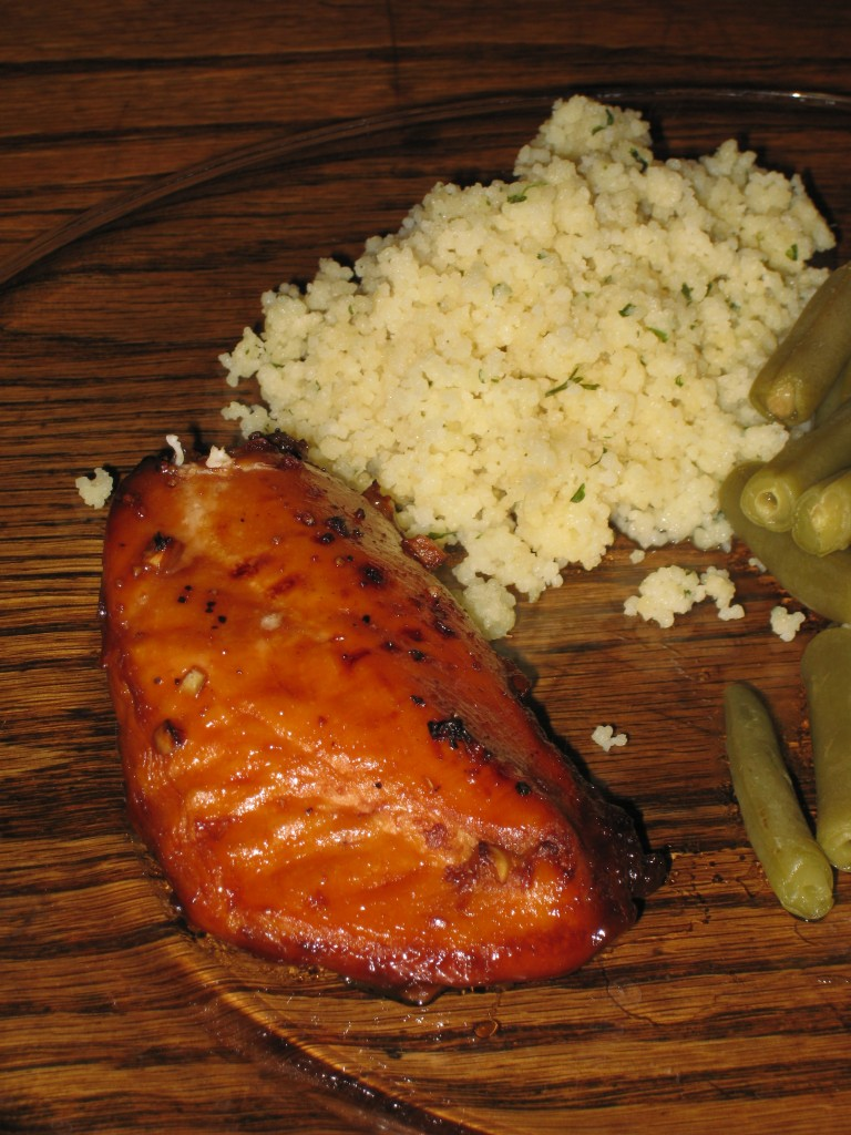 Lemon-Garlic Chicken Breast with Coucous