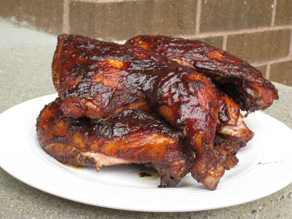 Smoked BBQ Chicken Quarters