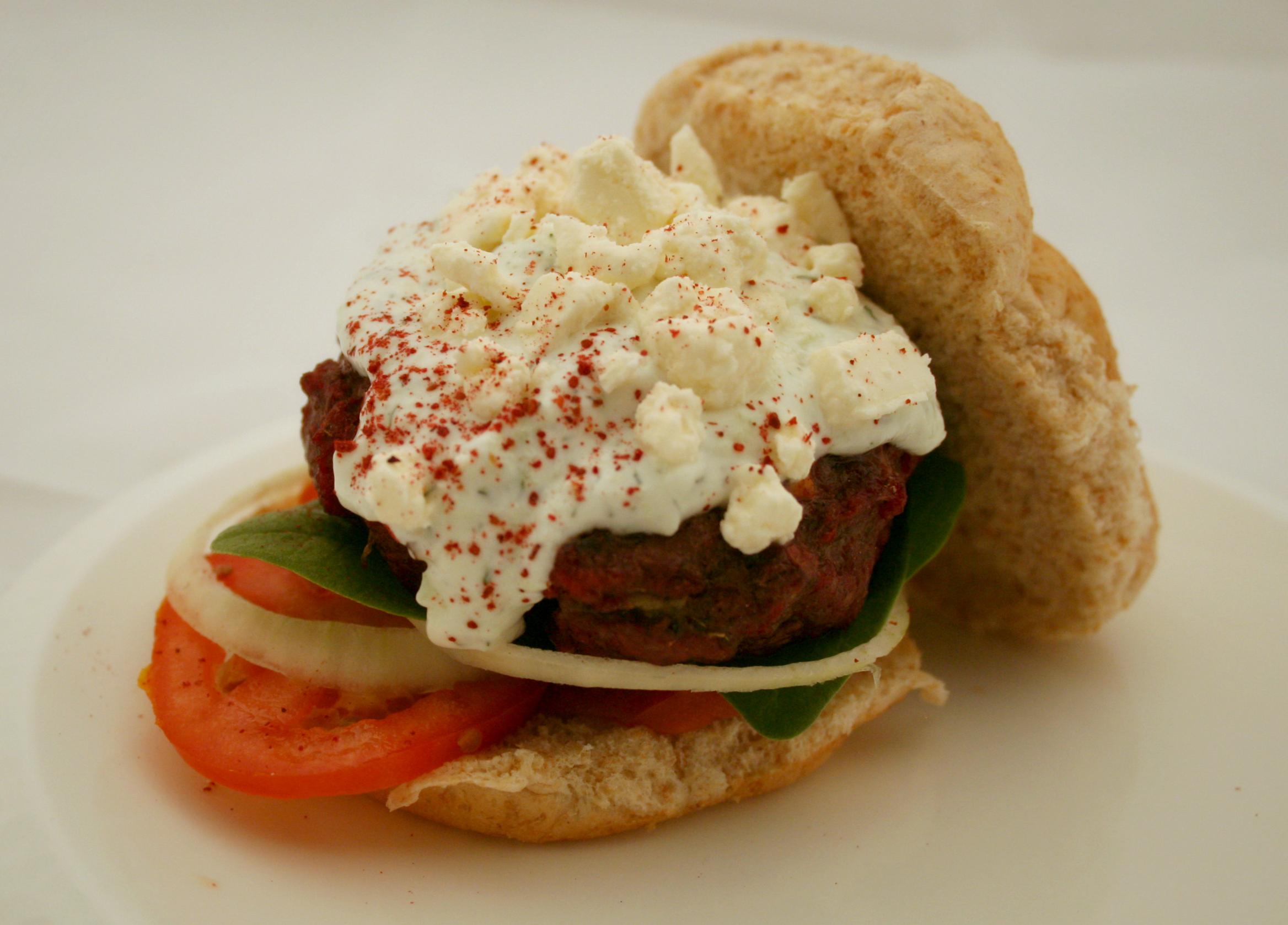 The Venison Greek Burger