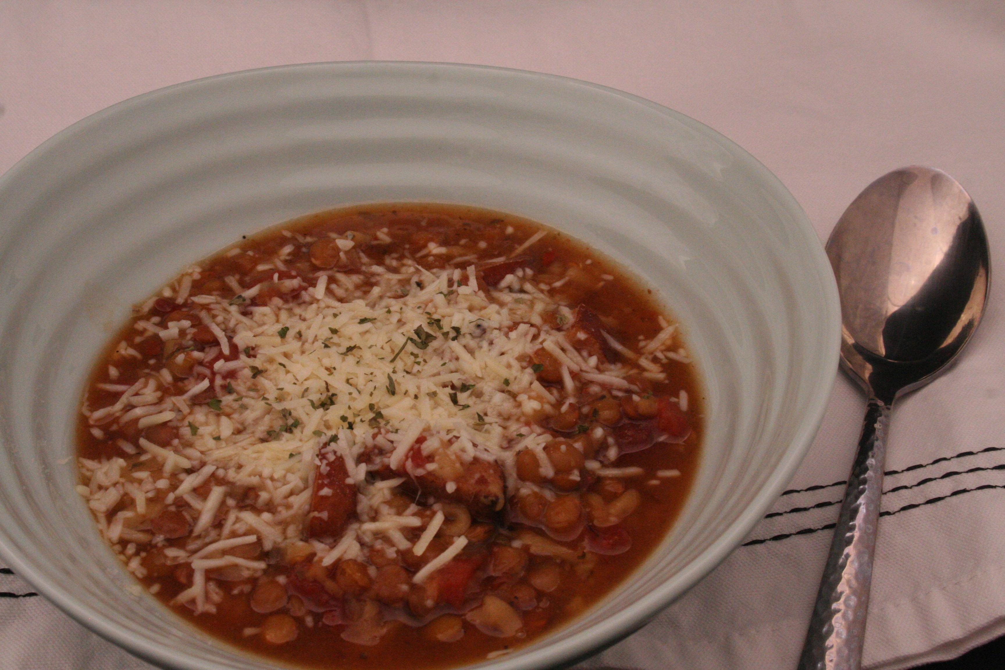 Lentil Chicken Sausage Soup